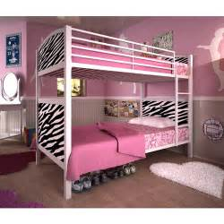 Dorel Bunk Bed by White Metal Twin Whimsical Bunk Bed Zebra Pattern