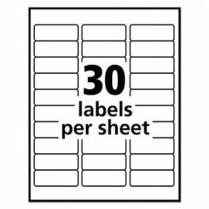 electronic address book template - avery removable 1 x 2 5 8 inch white id labels 750 count