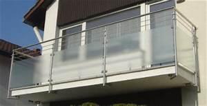 Milchglas Für Balkon : edelstahlgel nder mit milchglas gel nder f r au en ~ Markanthonyermac.com Haus und Dekorationen