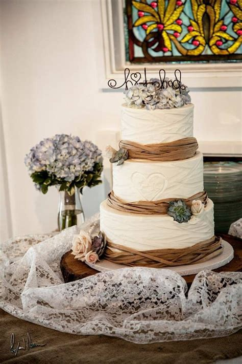 Burlap And Lace Wedding The Cake Winter Wonderland