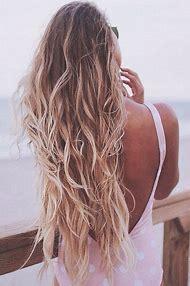 Long Blonde Hair Beach Waves