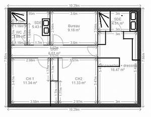 largeur couloir maison ventana blog With idee maison plain pied 10 plan maison r 1 160 m2