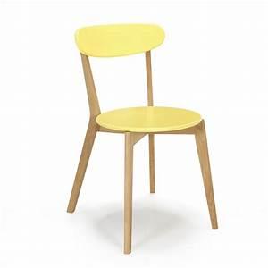 Chaise Scandinave Jaune : chaise design scandinave coloris jaune jaune siwa chaises tables et chaises salon et ~ Teatrodelosmanantiales.com Idées de Décoration