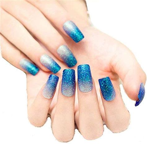 Blue Long Nails Amazon.com