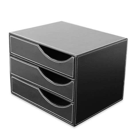 file cabinet file holders 3 drawer pu leather office filing cabinet desk file