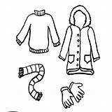 Coloring Winter Clothing Clothes Coat Pages Season Childrens Drawing Print Sun Getdrawings Clipartmag sketch template