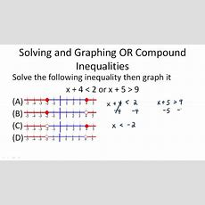 Solving Compound Inequalities  Example 2