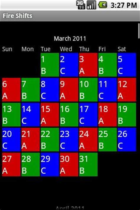 firefighter shift calendar     calendar