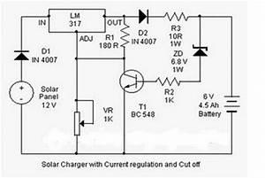 Hobby Electronics Circuits  Solar Charger Circuit Diagram
