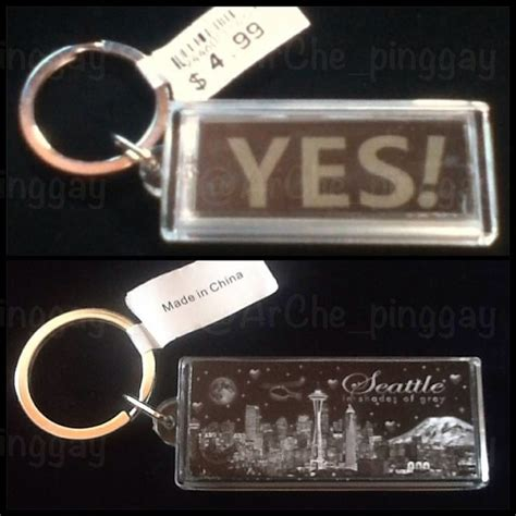 fifty shades seattle keychain  flashing