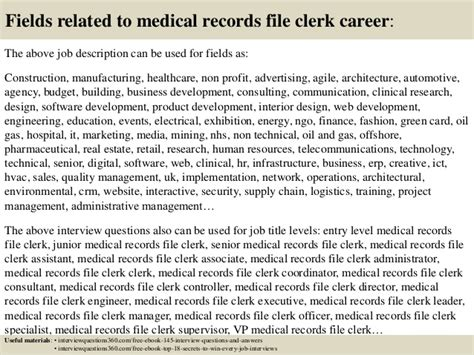 Records Clerk Questions And Answers by Top 10 Records File Clerk Questions And