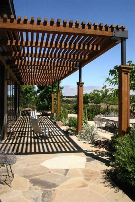 Sonnenschutz Terrasse Holz by Holz Als Pergola Garten Paradies Pergola Dach
