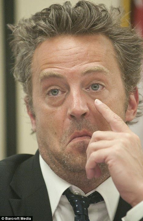 Friends star Matthew Perry looks washed out as he lobbies ...