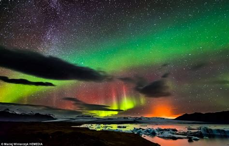 iceland northern lights photographer captures the northern lights way and