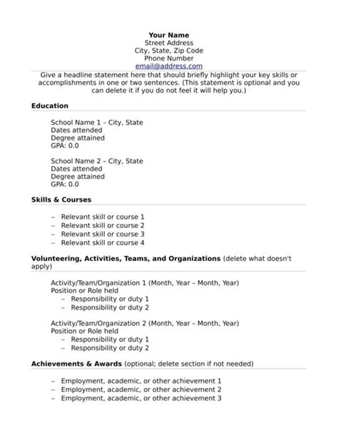 Experience Resume Templates by What To Put On Your Resume When You No Relevant