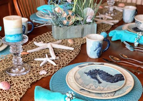 coastal table decor ideas perfect beach theme dinnerware