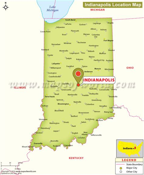 Where is Indianapolis Located in Indiana, USA