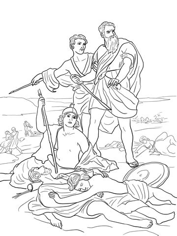 death  saul coloring page  printable coloring pages