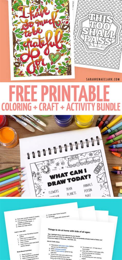 HUGE Free Printable Boredom Busters Bundle * Moms and Crafters