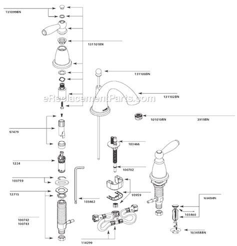 moen tbn parts list  diagram ereplacementpartscom