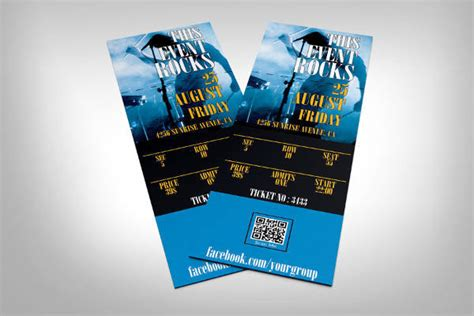 printable event ticket templates mockups word psd