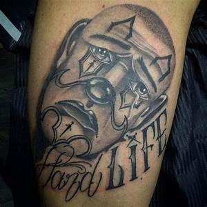 Chicano Clown Tattoo | Best Tattoo Ideas Gallery