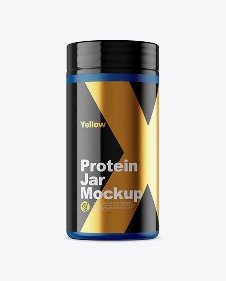 Object mockups, apparel mockups, free matte protein jar mockup bag & sack mockups, visualise your ideas on this mockup of a matte. Protein Jar in Glossy Shrink Sleeve Mockup - Protein Jar ...