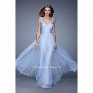 la femme 20448 powder blue bridesmaid dresses long blue With powder blue wedding dress