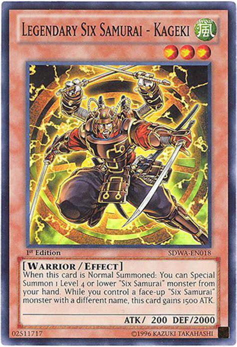 yu gi  card sdwa en legendary  samurai