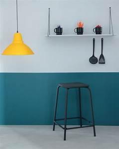 peinture cuisine moderne 10 couleurs tendance cote maison With couleur de peinture de salon 4 cuisine couleur orange pour un decor moderne et energisant