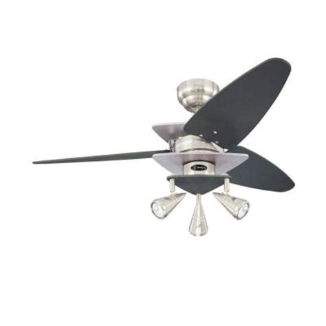 Home Depot Ceiling Fans Brushed Nickel by Westinghouse Vector 42 In Brushed Nickel Ceiling Fan