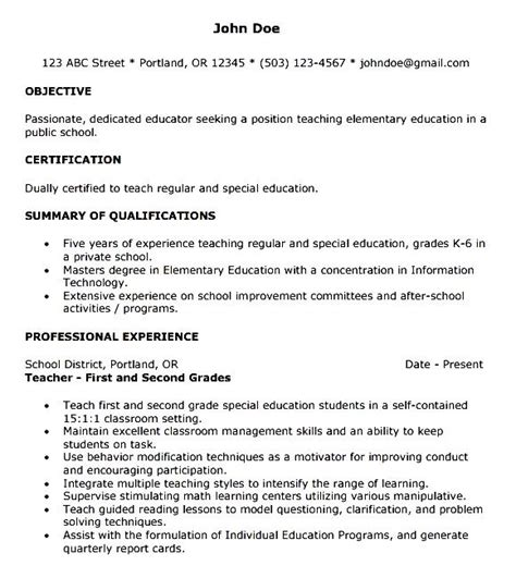 year resume template free sles