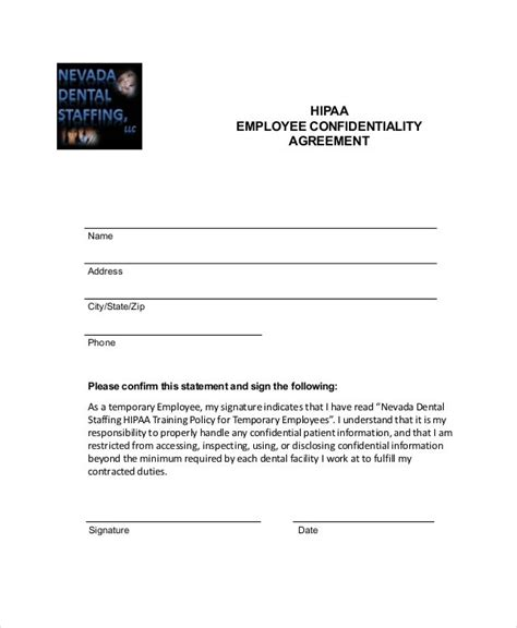 employee confidentiality agreement business forms 9 employee confidentiality agreement templates sles