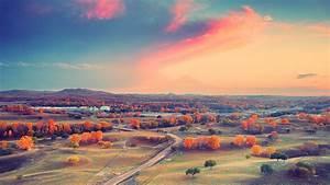 Autumn Sunset and Clouds HD Wallpaper » FullHDWpp