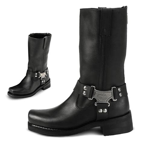 ladies black motorcycle boots women 39 s milwaukee motorcycle harness boots black 20925