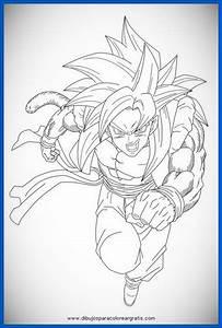 dibujos para colorear de dragon ball z goku ssj4 Archivos ...