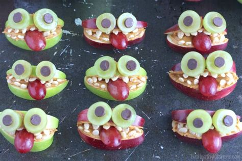 healthy monster fruit treats nutritious halloween snack