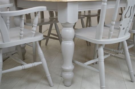 8 ft farmhouse table 6ft farmhouse table and 8 fiddleback chairs painted
