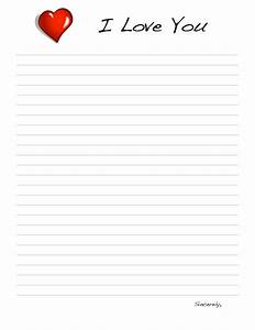 9 best images of love letter templates printable free With paper to write love letter on