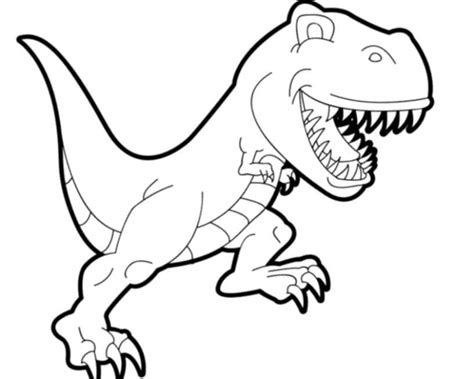 Dinosaur T-rex Coloring Pages For Kids