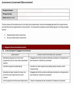 lesson learned template 4 free word excel pdf With lessons learnt report template