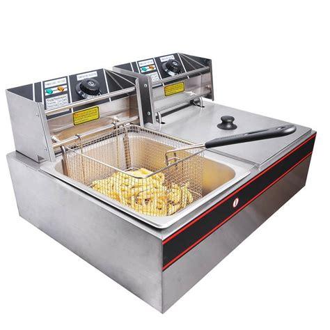 Countertop Fryers 5000w electric countertop fryer dual tank commercial