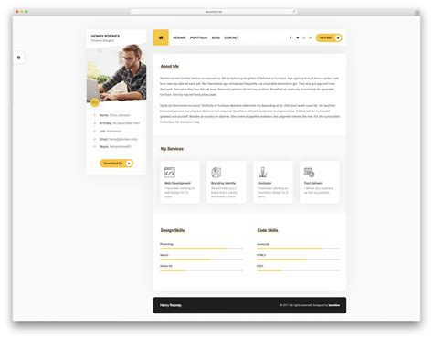 22 best html5 resume templates for personal portfolios