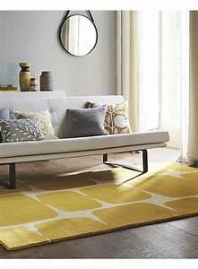 Tapis Salon Design : tapis salon lohko moutarde de la collection scion ~ Teatrodelosmanantiales.com Idées de Décoration