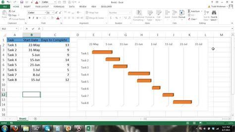 excel gantt chart tutorial how to make a gantt chart in microsoft excel 2013 excel 2010 excel