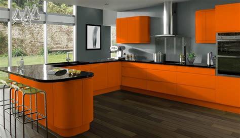 deco cuisine orange déco cuisine orange et grise