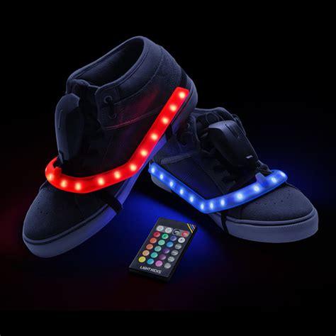 led light shoes light kicks led shoe light system thinkgeek