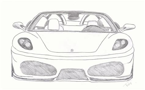 ferrari drawing ferrari drawing ferrari f430 by tioz on deviantart