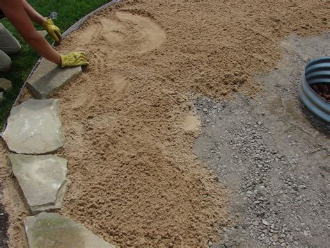 how to install a flagstone patio in sand home design ideas