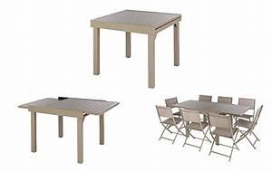 Table De Jardin 8 Places : table de jardin extensible aluminium hesperide piazza 4 8 places ~ Teatrodelosmanantiales.com Idées de Décoration